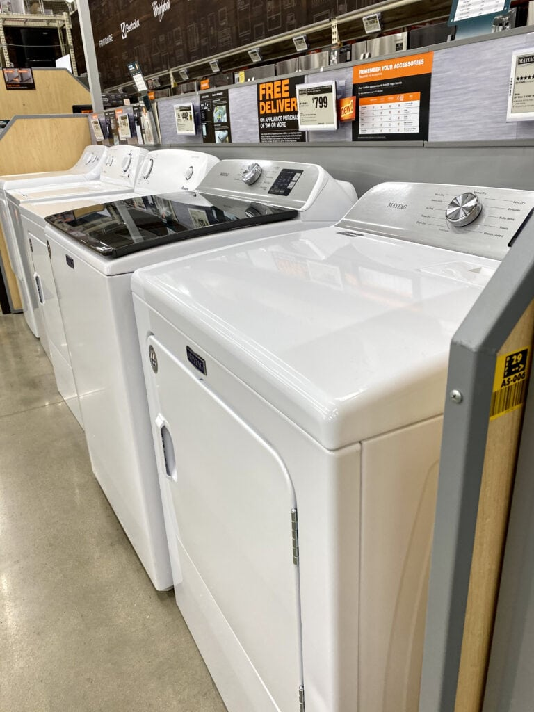 washer & dryer - scratch and dent appliances