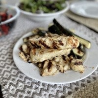 Zesty Grilled Chicken and Zucchini (Perfect ANY Time of Year!)