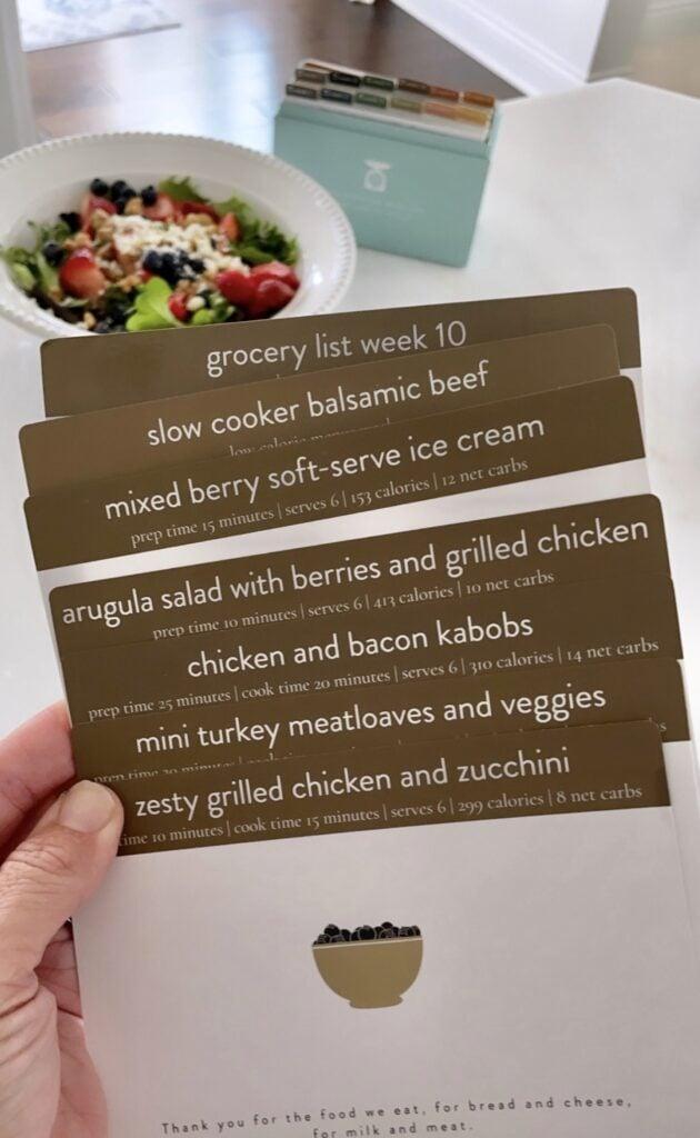 Low calorie meal plan week 10