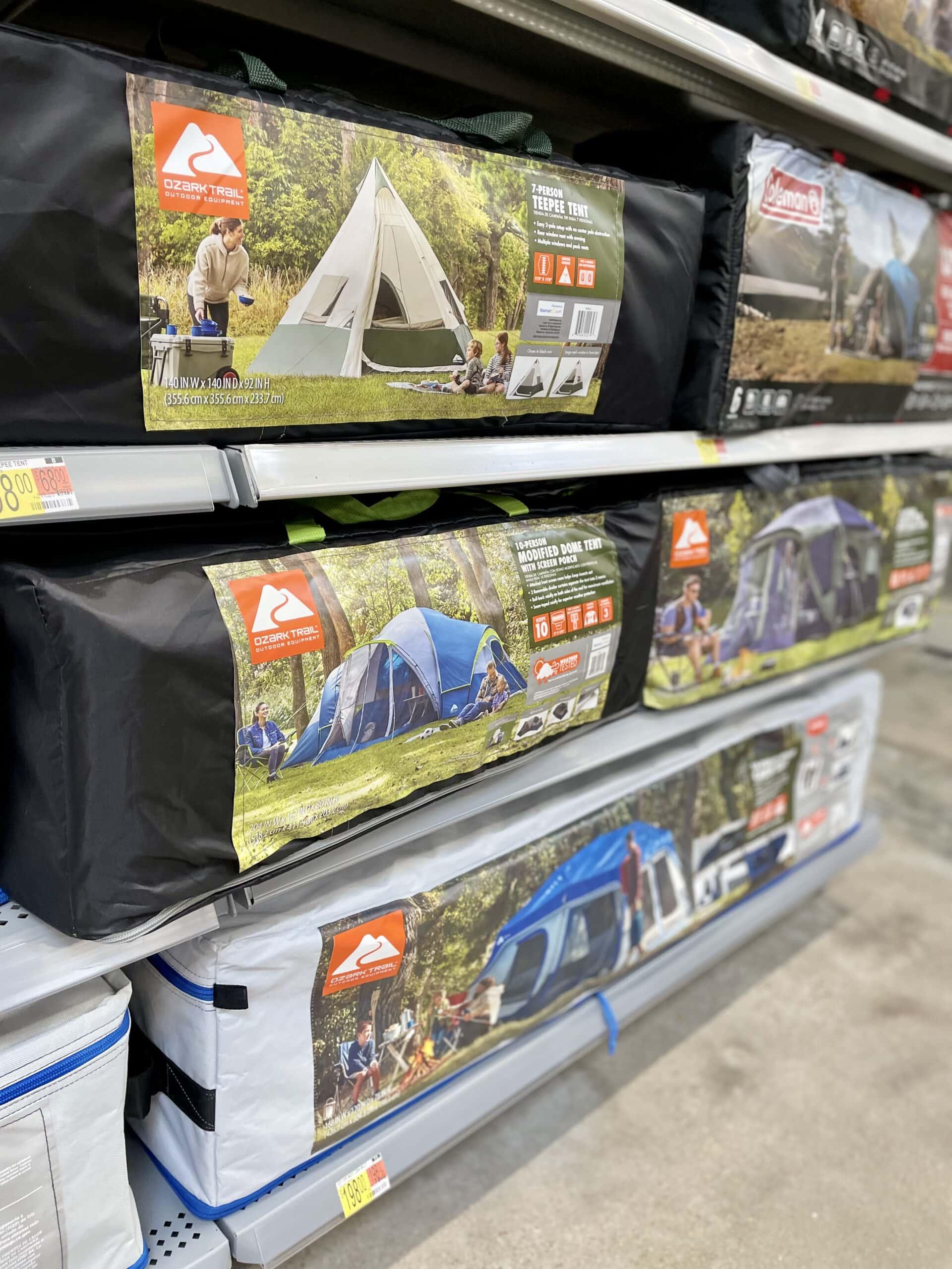 walmart tents on sale