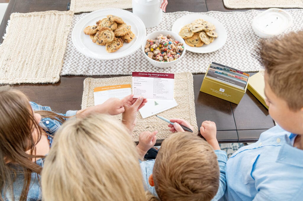 Celebration Menu Plan Christmas grocery list