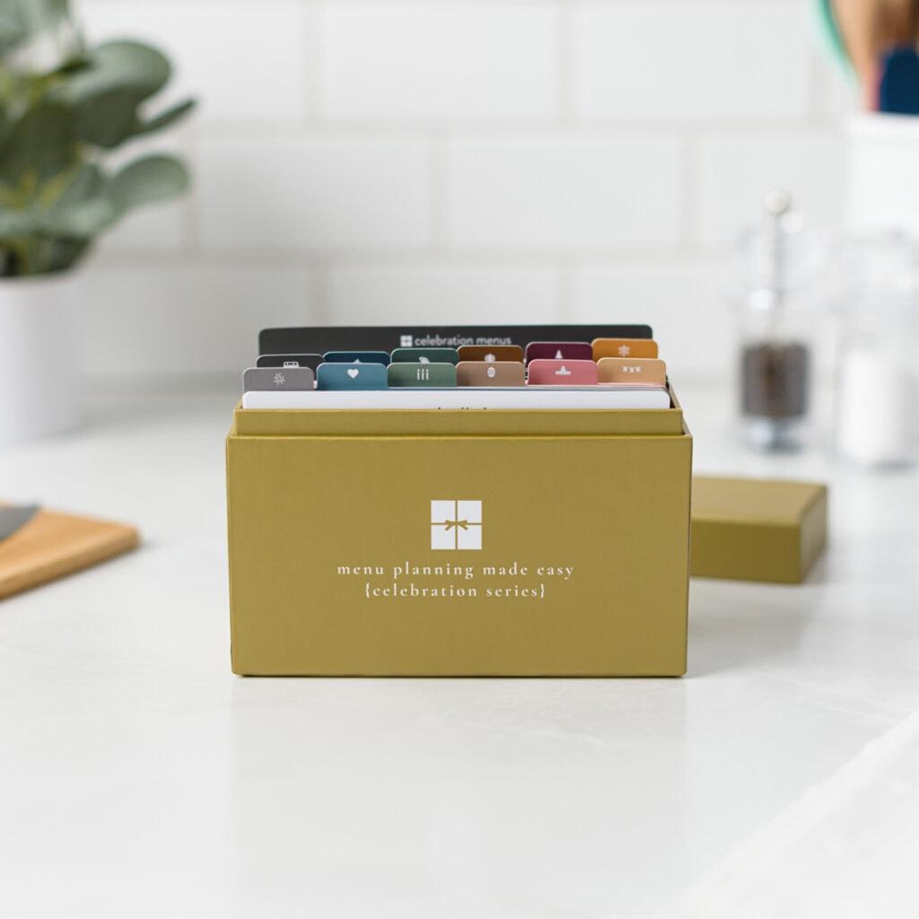 Celebration Menu Plan open box on kitchen counter