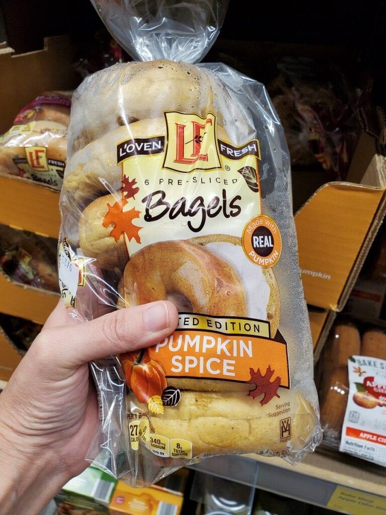 Aldi Fall Pumpkin Spice Bagels