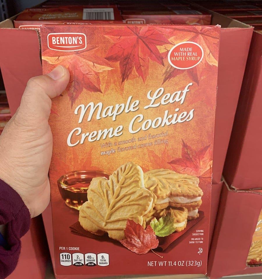 Aldi Fall Foods Maple Creme Cookies