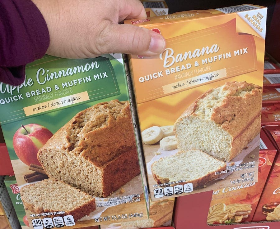 Quick Bread Mix in Fall Flavors Aldi Food