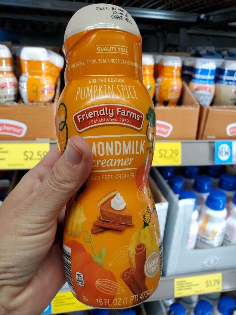 Pumpkin Spice Almondmilk Creamer at Aldi