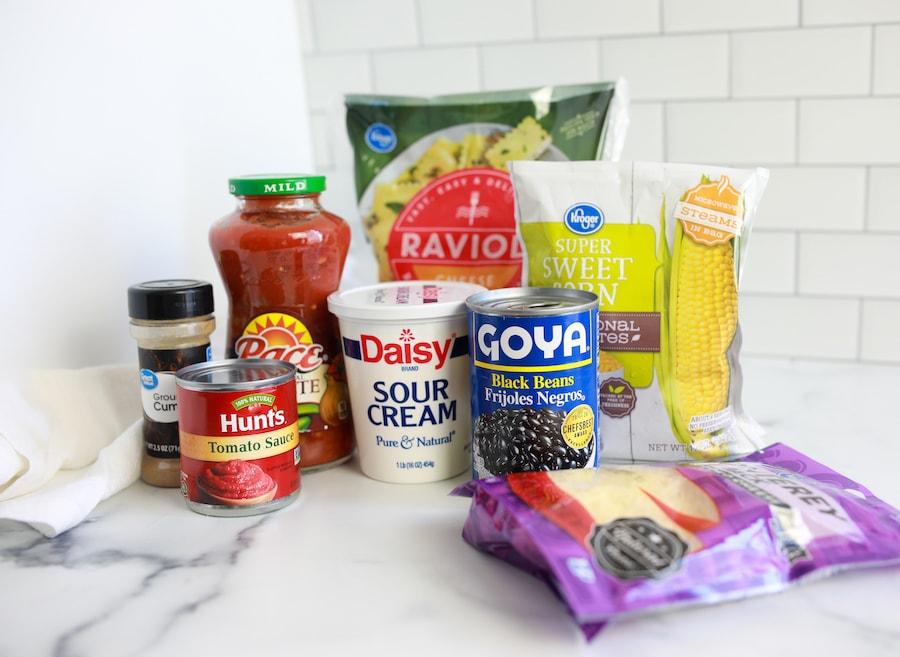 Southwest Baked Ravioli Ingredients