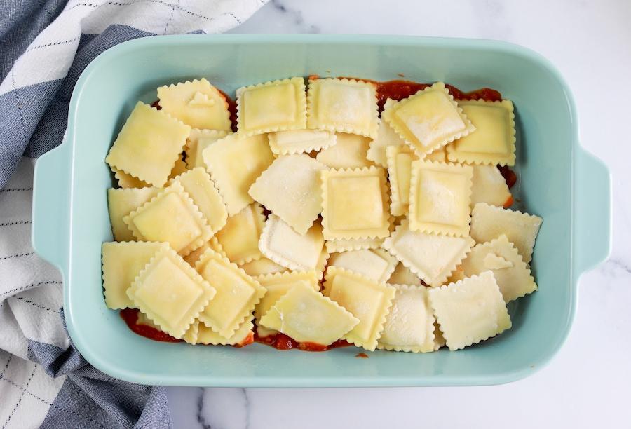 layering ravioli
