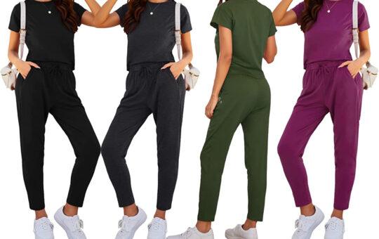 women wearing joggers