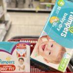 diapers in cart