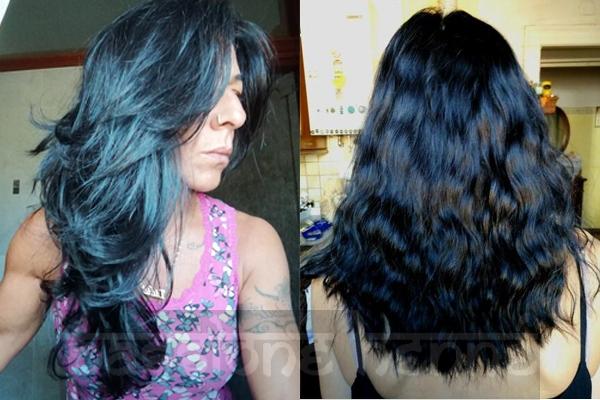 Colore capelli nero con riflessi blu