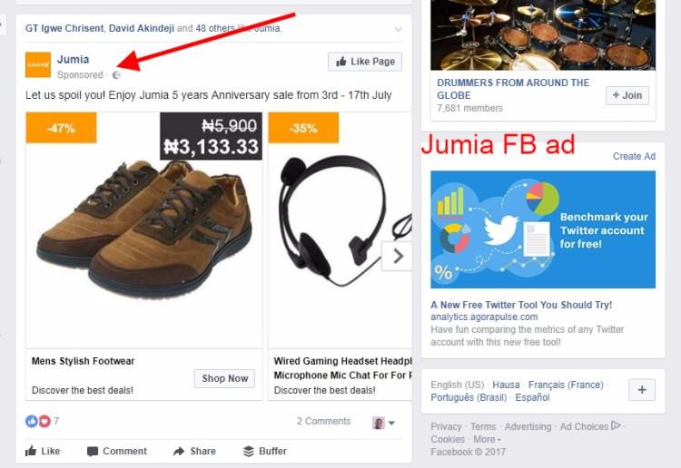 Jumia FB ad