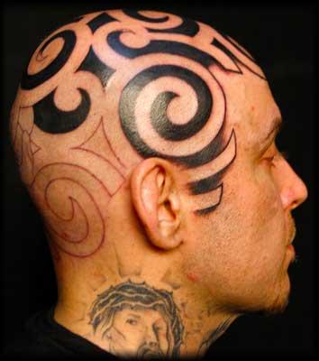 Tatuaż Tribal Na Głowie Tattoo Gallery