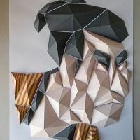 Kota Hiratsuka's origami mosaics