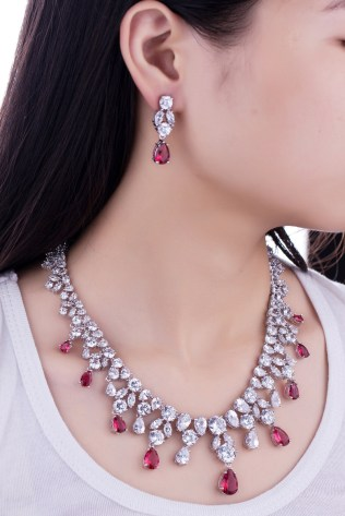 Luxury-Wedding-Jewellery-Nigerian-Design-Cubic-Zirconia-Diamond-Large-Bridal-Choker-Necklace-Earrings-Sets-For-Women-6