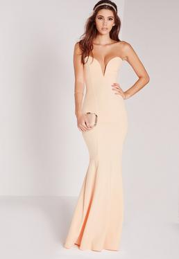 scuba-bandeau-fishtail-maxi-dress-nude