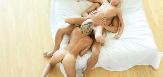 Passion HD Kacey Jordan & Marina Angel in Sexy Pillow Fight 10