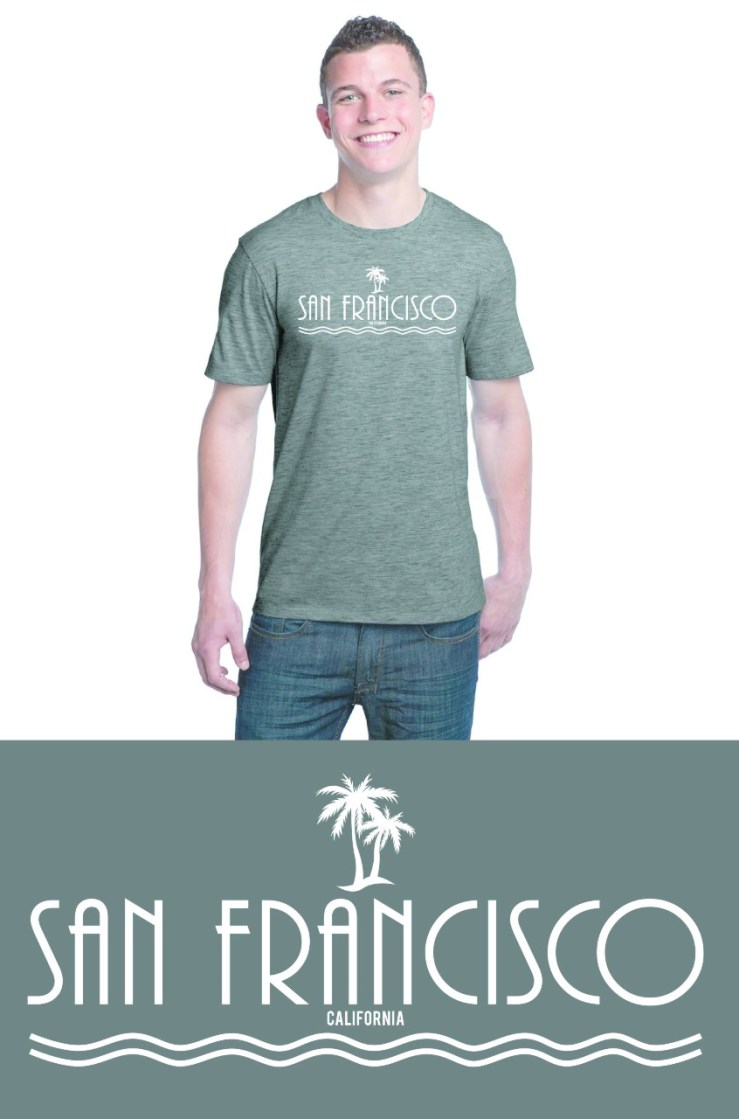 Light Green San Francisco T-Shirt Image