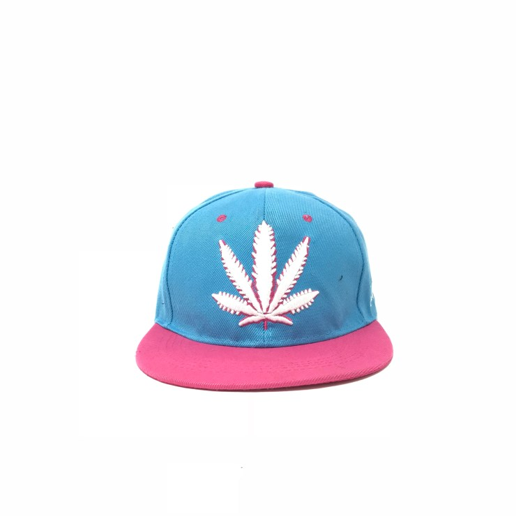 Marijuana Symbol (Blue/Red Lid) Image