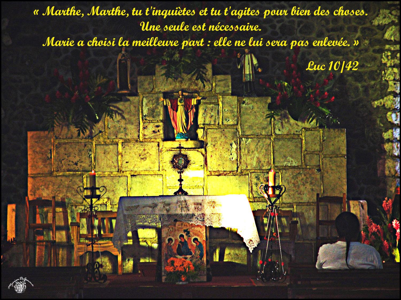 Commentaire de Luc 10,38-42