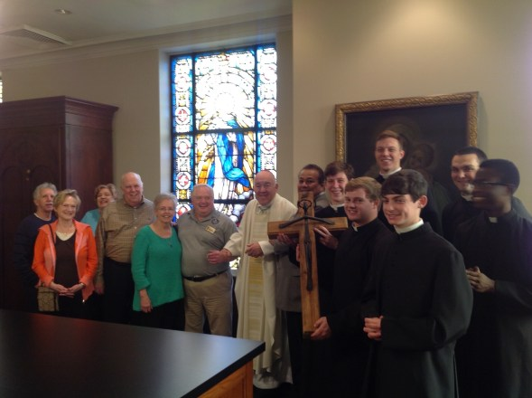 Seminarians, Bishop and Partners