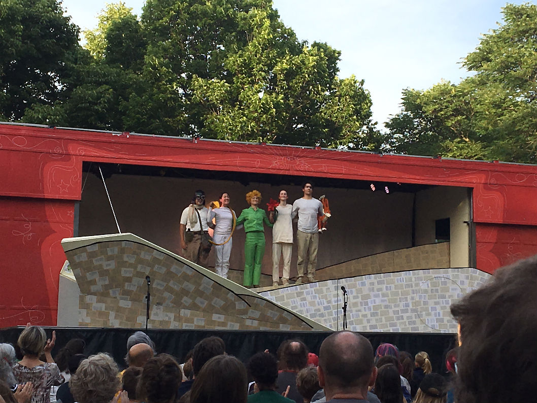petit prince troupe de théâtre La Roulotte parc Lafontaine