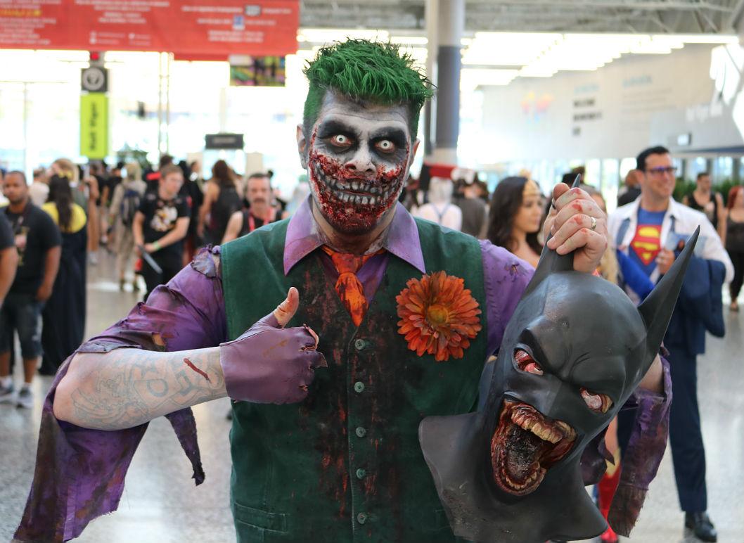 Comiccon Joker, Batman, Comiccon de Montréal, costumes plus de 60 000 fans au Comiccon de Montréal