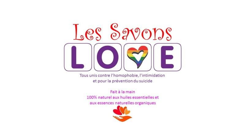 Les savons LOVE logo et texte complet