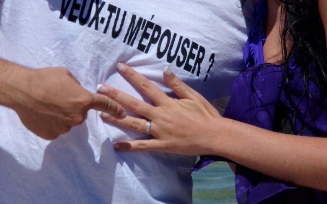 Une demande en mariage à couper le souffle !