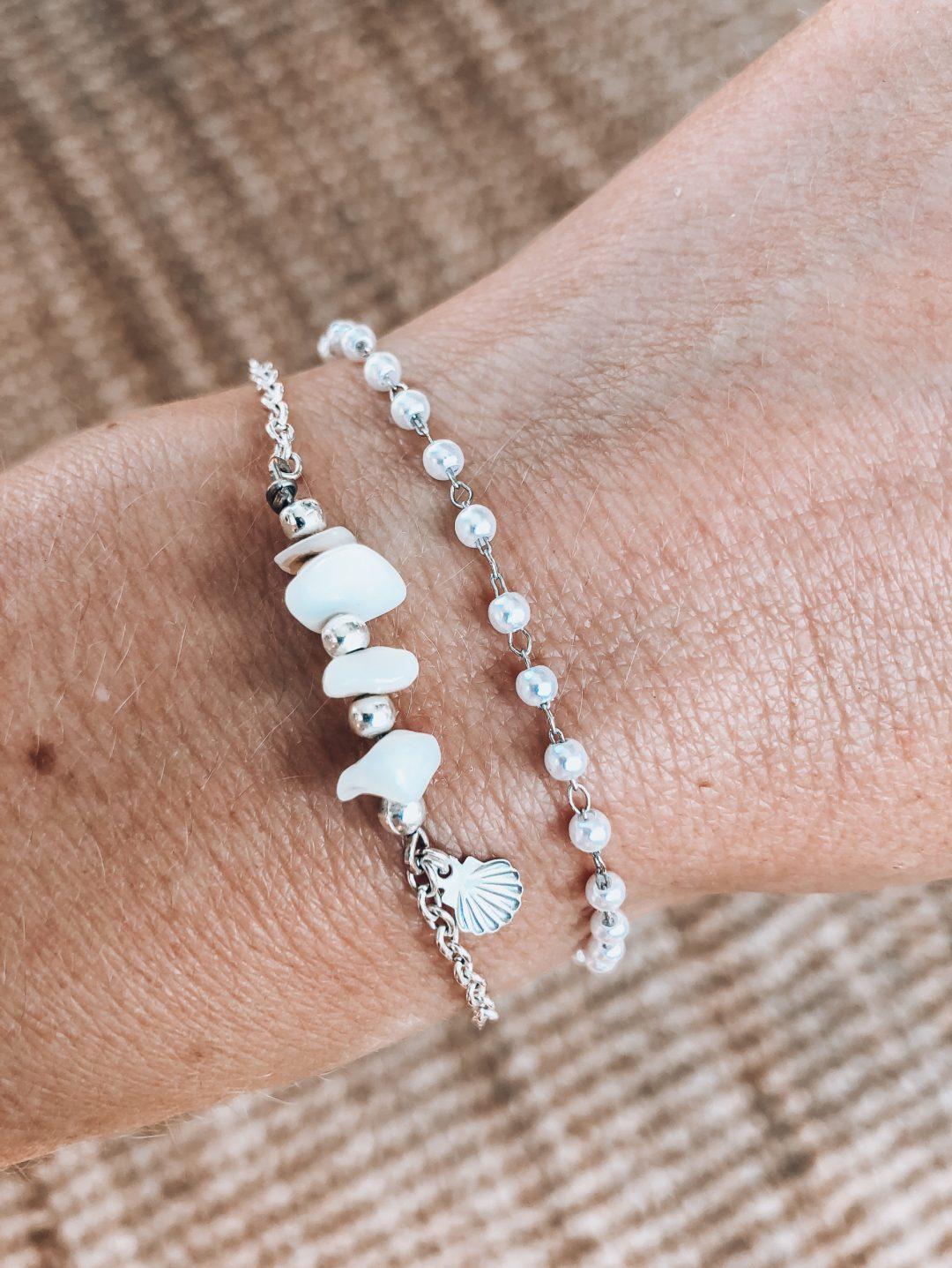 bracelet, bracelet en argent, bracelet perle, bracelet nacre