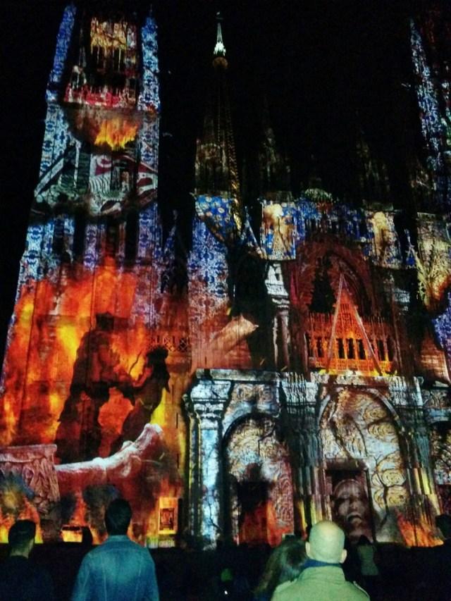 Animation de la cathédrale Notre-Dame de Rouen