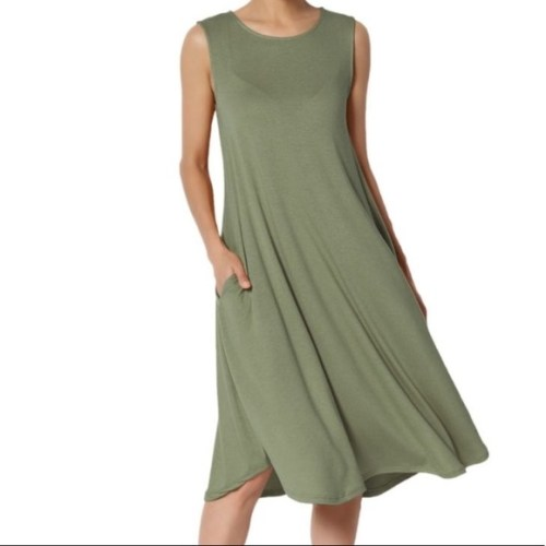 Sage Casual Sleeveless Knit Dress