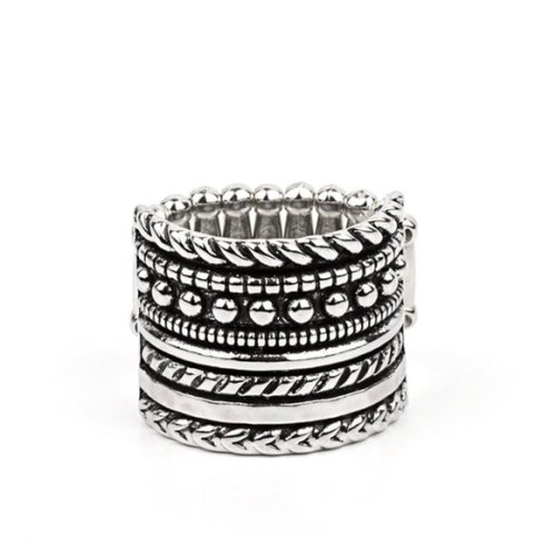 Stacked Odds - Silver Ring
