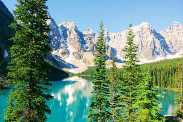 Banff National Park. Canada always ranks high on the World Happiness Report.