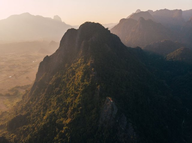 A photo by Jack Crosby of mountains in Laos