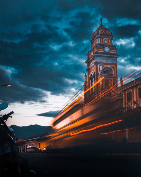 A photo by Jack Crosby of Granada, Nicaragua at night