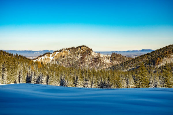 Smooth snow on a clear day at Kasprowy Wierch, Poland