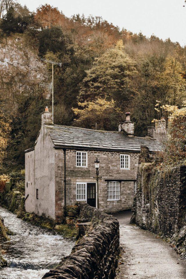 cottage alongside water