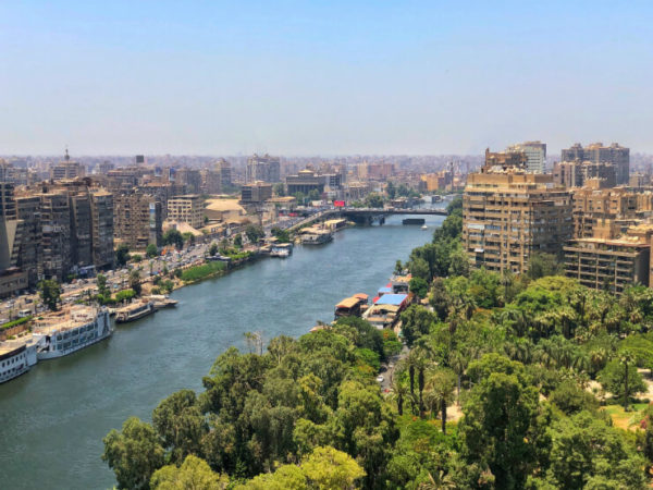 View of Cairo and the Nile River