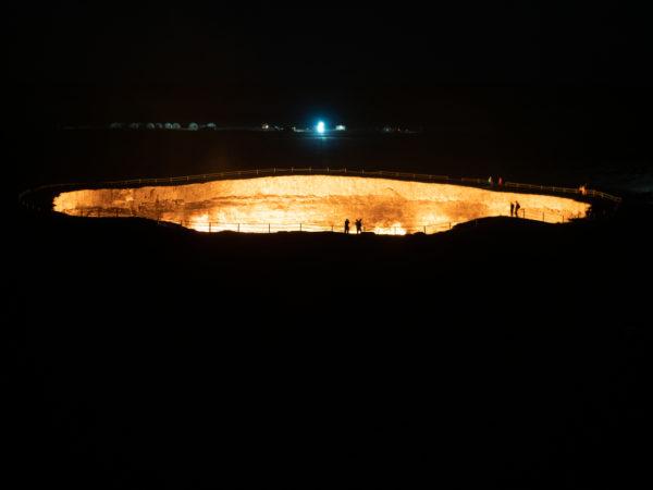 firey door to hell crater in turkmenistan