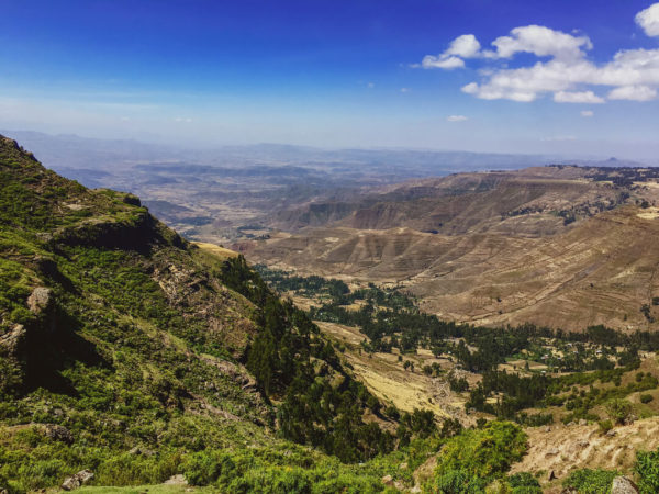 outlook over ethiopian highlands