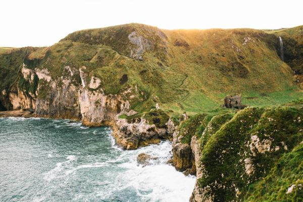 kinbane castle on irish coast