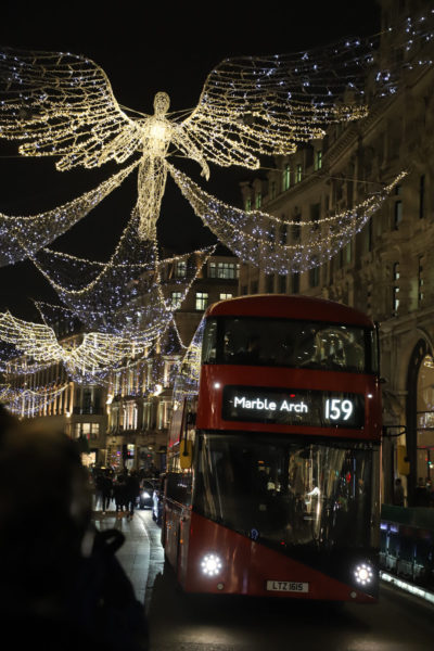 Regent Street's Christmas lights display