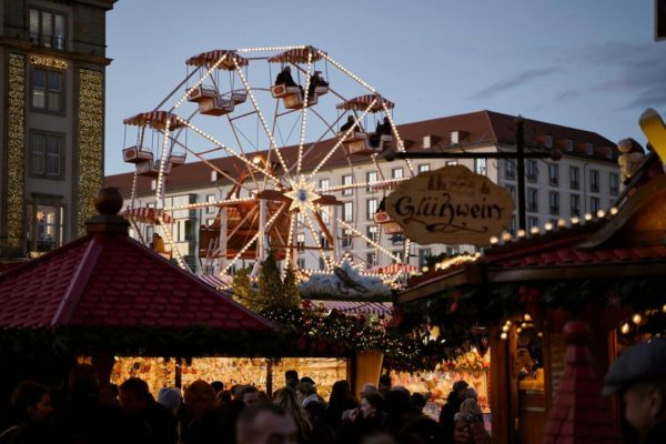 A Christmas market in Germany