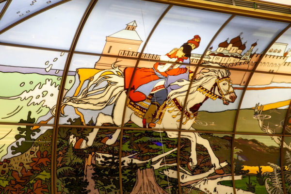 Russian folk tales in stained glass