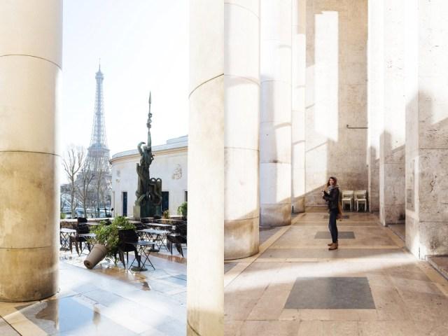 View of Eiffel Tower from Palais de Tokyo, Paris
