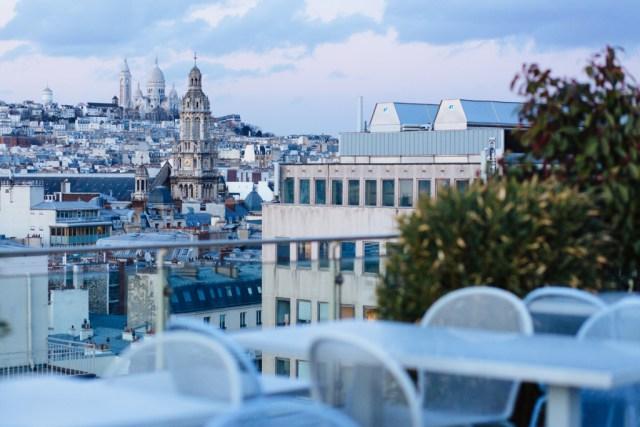 View of Montmartre from hidden Paris rooftop
