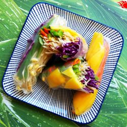 Vegetable summer rolls.
