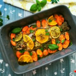 Herb-baked trout.