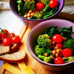Healthy salad bowl.